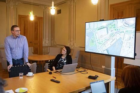 Petteri Lahti ja Sanna Välimäki kuuluivat yleissuunnitelmaa laatineeseen ohjausryhmään.