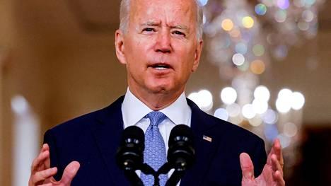 Presidentti Joe Biden Washingtonissa 31. elokuuta 2021.