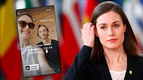 Pääministeri Marin ottaa päivityksellään ilmeisesti kantaa Suomessa velloneeseen keskusteluun hänen vapaa-ajan vietostaan.