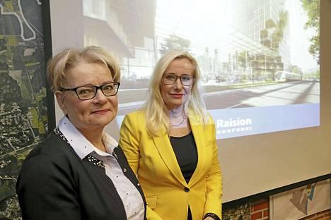 Hannele Lehto-Laurila ja Elisa Vuorinen toteavat Raision olevan taloudellisesti historiallisen vaikeassa tilanteessa.