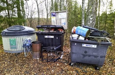 Kuva kertoo, mikä on nyt Vilppulan Huhtijärven jätepisteen tilanne.