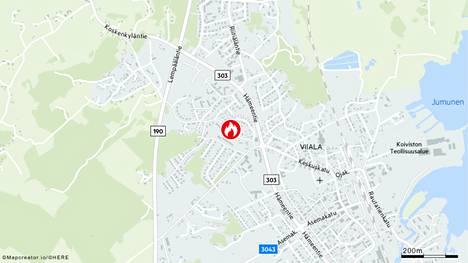 Tulipalo syttyi Akaan Viialassa.