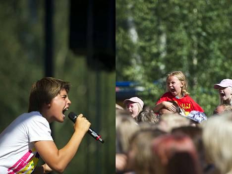 Robin on valloittanut sydämiä Lokkilavalla useamman kuin kerran. 13-vuotias Robin oli sunnuntain pääesiintyjä vuonna 2012.