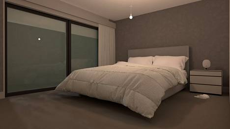 Perinteinen yhden kattoripustuspisteen ratkaisu tuottaa tilaan tasaisen valon.