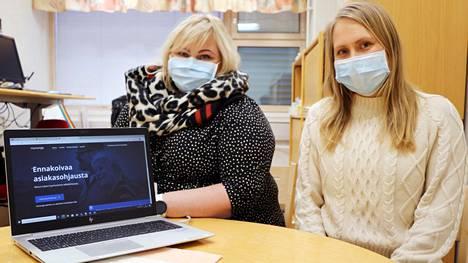 Mari Kolu ja Kaisu Mäenpää esittelevät ikääntyneiden hyvinvointikyselyä, jolla jokainen voi kartoittaa vointinsa ja löytää myös apua hyvinvoinnin pulmiinsa.