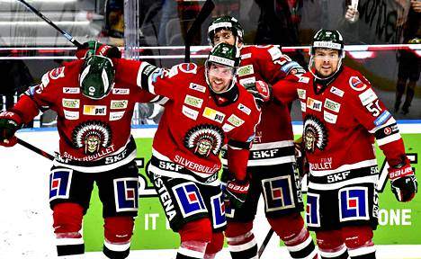 Tällainen oli Frölundan pelipaita viime kaudella.