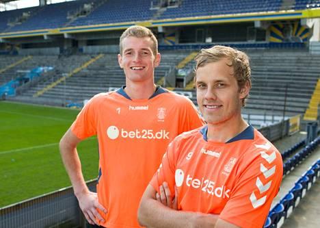 Syyskuussa 2014 Pukki siirtyi vuoden lainasopimuksella Lukas Hradecyn seurakaveriksi Tanskan Superligan Brøndby IF:n joukkueeseen. Sopimus sisälsi myös osto-option. Pukki debytoi Tanskan liigassa 14. syyskuuta 2014 ottelussa Brøndby–Randers. Maalitili aukesi 28. syyskuuta ottelussa Esbjerg–Brøndby, kun hän vei joukkueensa 1–0-johtoon. Lopulta Pukki pelasi Brøndbyssä kevääseen 2018 saakka. Hän teki 103 ottelussa 46 maalia tanskalaisjoukkueelle.