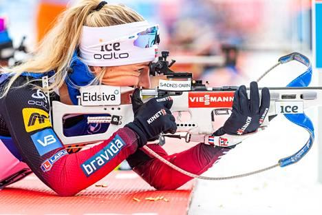 Norjan Tiril Eckhoff otti jo kuudennen voittonsa tämän kauden maailmancupissa.