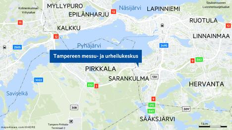 Paraatiin osallistuvat joukot saapuvat torstaina Tampereen messu- ja urheilukeskukselle. Sotilasajoneuvoja näkyy Sarankulman lisäksi myös niiden saapumisreiteillä valtateillä 3, 9 ja 12.