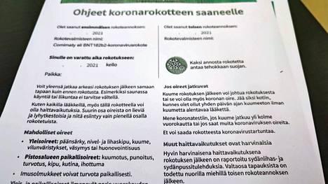 Mänttä-Vilppulan kaupunki odottaa rokotuskattavuuden kasvua ja suosittelee maskin käyttöä yli 12-vuotiaille.