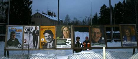Muistathan, että eduskuntavaalien vaalimainokset on myös poistettava heti varsinaisen vaalipäivän 14. huhtikuuta 2019 jälkeen. Kuva on vuoden 2006 presidenttivaalien mainonnasta.