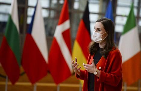 Suomea EU-maisen johtajien videokokouksessa edustaa pääministeri Sanna Marin.