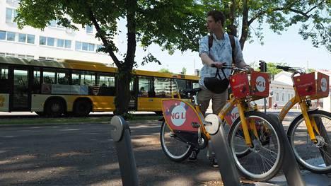 Turussa kaupunkipyöriä on jo ollut käytössä. Kuvituskuva.
