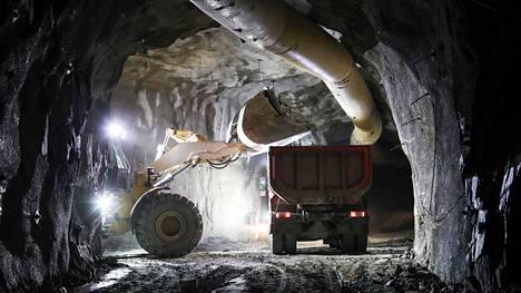 Tämä kuva otettiin Oriveden kultakaivoksesta 1. elokuuta 2019, jolloin kaivoksessa oli meneillään hallittu alasajo.