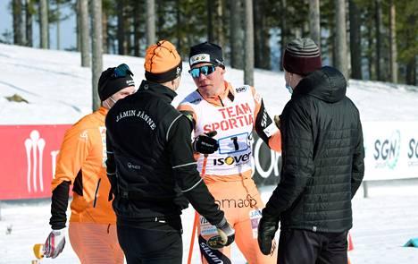 Jämin Jänteen hopeajoukkue Aku Nikander, Ristomatti Hakola, Markus Vuorela ja Antti Ojansivu.