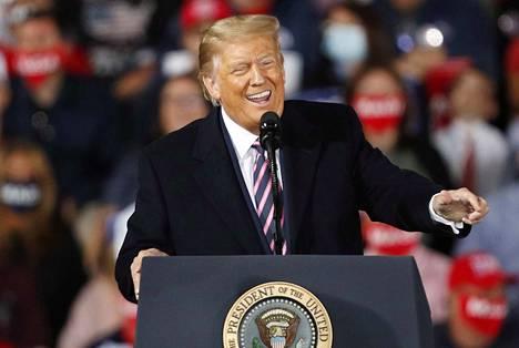 Donald J. Trump kampanjoi tiistaina Pennsylvaniassa.