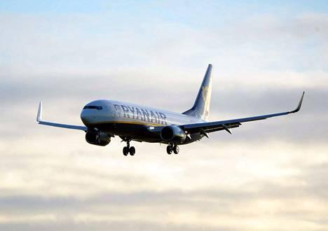 Ryanair Boeing 737 laskeutui Dubliniin 2017. Arkistokuva.