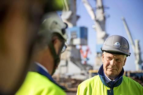 Pääministeri Antti Rinne vieraili Rauman telakalla, jossa tilauskanta yltää jo miljardiin euroon.