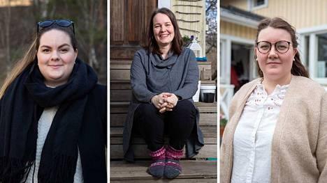 Jutta Lehtonen, Niina Niiniuoto ja Heidi Karjalainen viettävät tänään äitienpäivää. Nyt he kertovat, millaista on olla äiti.