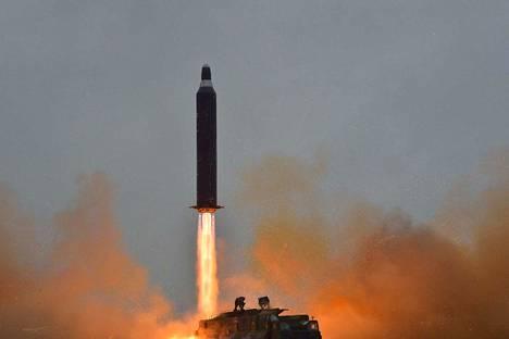 Pohjois-Korea testasi keskimatkan Hwasong-10 -ohjusta vuonna 2016.