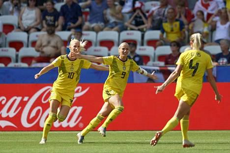Ruotsi pääsi juhlimaan MM-pronssia Nizzassa.