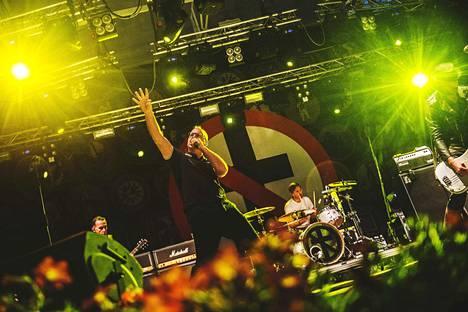 Bad Religion esiintyi Lokkilavalla syksyllä 2015.