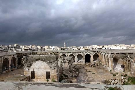 Sodan aiheuttamia tuhoja Maaret al-Nuaman -kaupungissa Idlibin maakunnassa 30. tammikuuta.