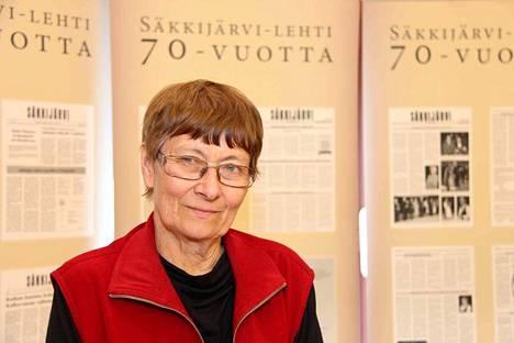 Säkkijärvi-lehden päätoimittaja Paula Penttilä syntyi evakkona Merikarvialla.