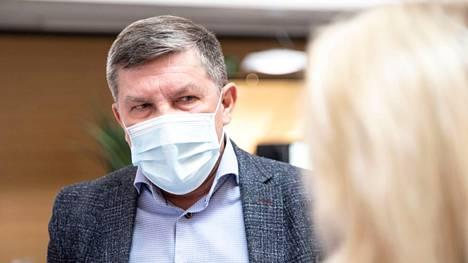 Pirkanmaan sairaanhoitopiirin johtajaylilääkäri Juhani Sand kuvattiin perjantaina 30. heinäkuuta Tampereen yliopistollisella sairaalalla.