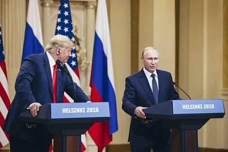 Yhdysvaltain presidentti Donald Trump ja Venäjän presidentti Vladimir Putin tapasivat Helsingissä maanantaina 16. heinäkuuta 2018.