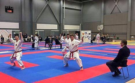 Nakkilan Shotokanin Tommi Kalliokorpi, Nuutti Karjalainen ja Riku Tapaninen ottivat jo neljännen perättäisen SM-kullan katassa.