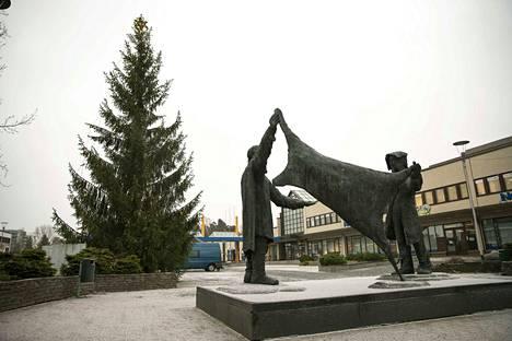 Pirkkalaistorin joulukuusi on noin 15 metriä korkea metsäkuusi. Se on peräisin rivitalon pihasta Myllyhaasta.