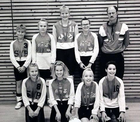 Tähden D-tytöt TUL aluemestaruusjoukkue vuonna 1991.