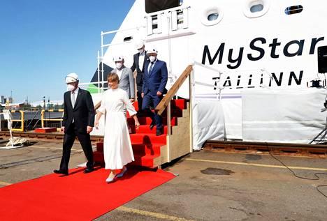 Suomen ja Viron väliseen liikenteeseen Tallinna–Helsinki-reitille tuleva MyStar kastettiin perinteisessä seremoniassa. Laivan kummina toimi Viron presidentti Kersti Kaljulaid.