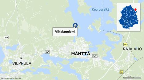 Kesämökki tuhoutui tulipalossa Mänttä-Vilppulassa.