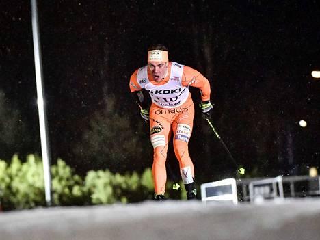 Markus Vuorela sijoittui Ski Tourin neljännellä etapilla sijalle 50. Arkistokuva.