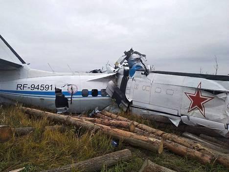 Venäjän hätätilaministeriön kuva onnettomuuskoneesta.