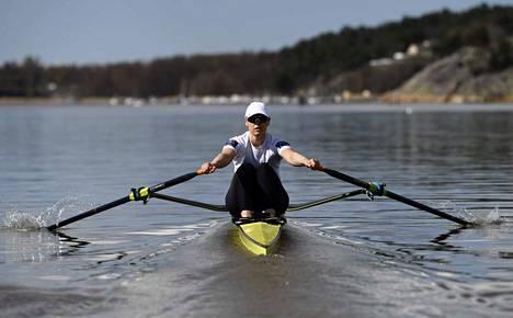 Eeva Karppinen on tyytyväinen harjoittelumahdollisuuksiinsa.