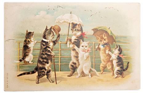 Postikortti kuljetti viestin 1900-luvun alussa edullisemmin ja nopeammin kuin kirje.