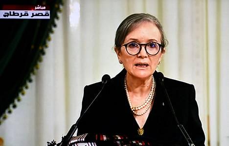 Najla Bouden on nimitetty Tunisian uudeksi pääministeriksi. Bouden on ensimmäinen nainen, joka on toiminut tehtävässä. Bouden puhui tunisialaisille televisiossa 11. lokakuuta.