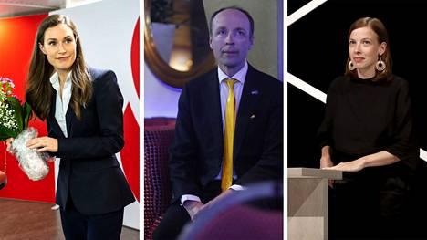 Pääministeri Sanna Marin, perussuomalaisten puheenjohtaja Jussi Halla-aho ja vasemmistoliiton puheenjohtaja, kansanedustaja Li Andersson kuuluivat maan suurimpiin ääniharaviin.