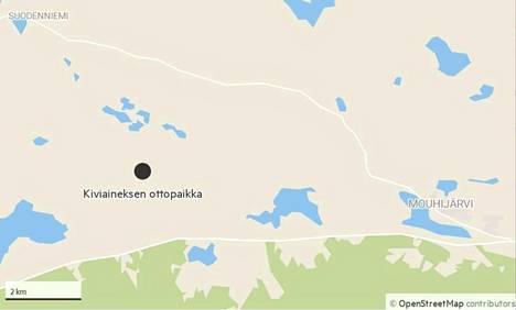 Louhinta- ja murskauspaikka on suunnitteilla Irriäistentien varteen, noin neljän kilometrin päähän Porintieltä. Kiviainesrekat kulkisivat Vanhankirkontietä pitkin.