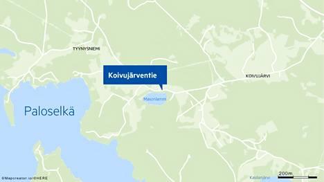 Palopaikka sijaitsee Koivujärventiellä Mänttä-Vilppulassa.