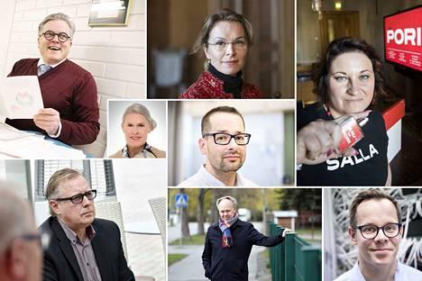 Heistä kuusi on hakenut uutta työpaikkaa kuluvan syksyn aikana. Kuvassa Esa Kohtamäki, Ulla-Kirsikka Vainio,  Salla Rajala, Marjukka Palin, Taneli Tiirikainen, Kristian Vainio, Timo Aro ja Heikki Haaparanta