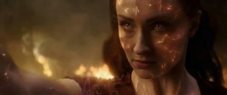 Jean Greyllä (Sophie Turner) on vaikeuksia hallita telekineettisiä voimiaan elokuvassa X-Men: Dark Phoenix.