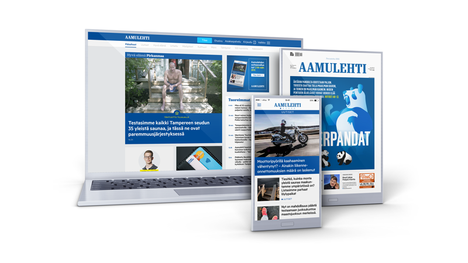 Pääset lukemaan uutiset digitaalisena Aamulehden eri kanavista.
