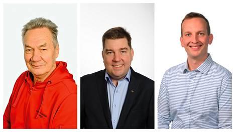 Pekka Järvinen (vas.), Mikko Nurmo ja Mikko Franssila kuuluvat kunnallisvaaleissa eniten ääniä saaneisiin valtuutettuihin. Nurmo ja Franssila kuuluvat ryhmä 23:een, joka on sopinut teknisen vaaliliiton.