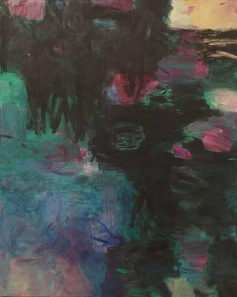 Teos: Syvyydet, 2020, öljyväri, 100 x 80 cm.