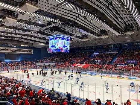 Ostravan MM-välierä on kuin Kanadan kotiottelu.