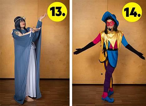 13. No 6-hahmo Nezumi (Eve-versio). // 14. Notre Damen kellonsoittaja-sadun hahmo Clobin.